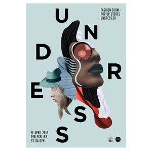 Un-Dress Event-Poster mit dem 2019 Design