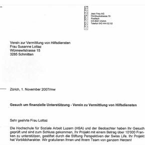 Sozialpreis Swisslife und Beobachter 2007