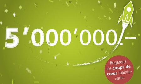5 millions de francs de dons: Vive les héros!