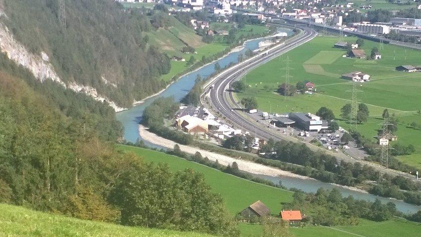 Ryyssboogebrugg Gottardo Wanderweg in Erstfeld Uri