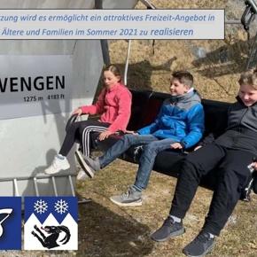 Sommerbetrieb  Innerwengenlift 2021