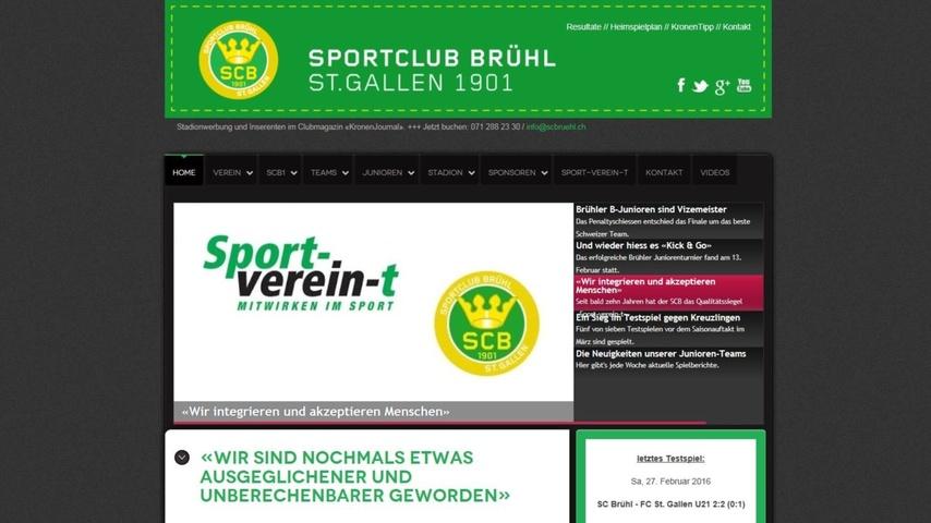 Neue Homepage für SC Brühl