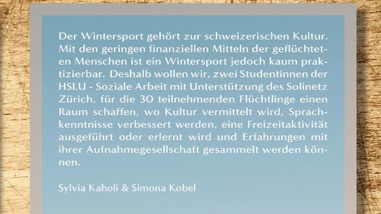 Wintersporttag für Flüchtlinge