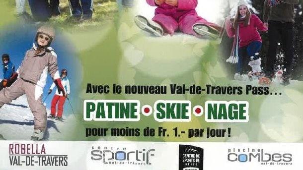 Skie, luge, patine ou nage pour moins de 1.- par jour