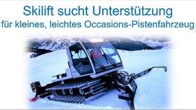 Skilift braucht Unterstützung für Pistenfahrzeug