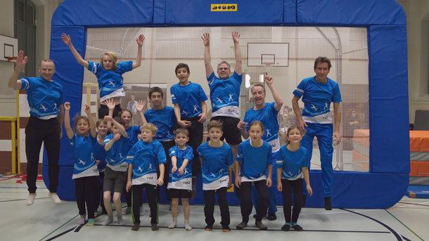 Ein Trampolin für die Kids des TV Aussersihl Zürich