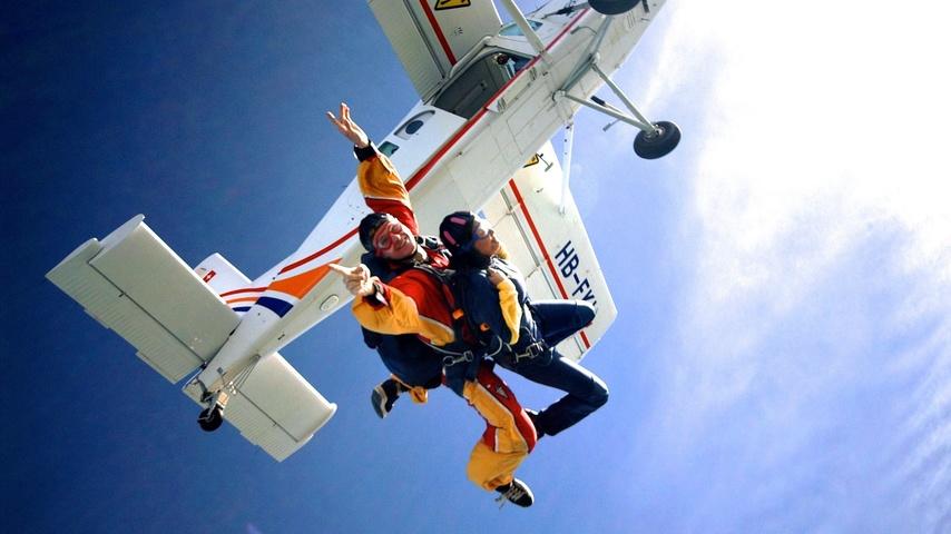 Tandemausrüstung für Fallschirmgruppe Sittertal
