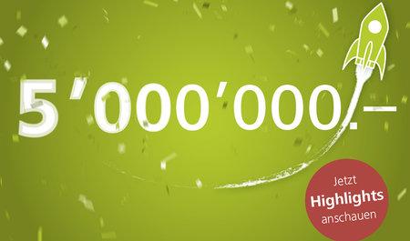 5 Millionen Franken Spenden: Ein Hoch auf euch!