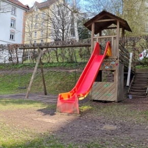 Neubau des Spielplatzes in der Kindertagesstätte TRIP TRAP