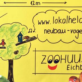 Neubau Vogelvoliere im Zoo Gnadenhof Eichberg