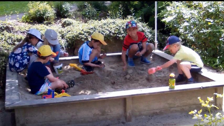 Umgestaltung Sandhaufen Kita Spatzenescht